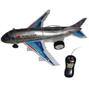 SHRIBOSSJI Remote Control Aeroplane 2 Channel Radio Control Plane (Running Not Flying) For Child Kids (Multicolor)