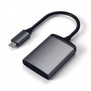 Satechi USB-C čtečka microSD a SD karet - Satechi, Aluminum Card Reader UHS-II Gray