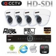 Kamerový systém HD SDI - 4x 1080P kamera s 30m IR + HD SDI DVR