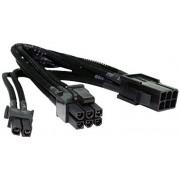 CABLU NZXT CB-8V 6+2-PIN TO 6-PIN VGA POWER SLEEVED EXT BLACK