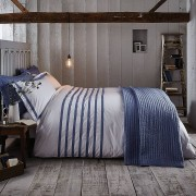 Bianca Cotton Soft Chambray Double Bed Set - Blue
