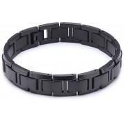 Boccia Titanium Brățară din titan neagră pentru bărbați 0337-04