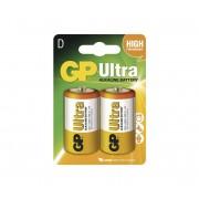 2 buc Baterie alcalină D GP ULTRA 1,5V