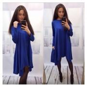 Vestido Casual De Otoño Para Mujer-Azul