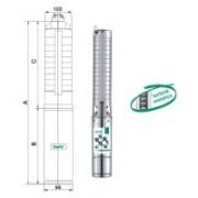 Pompa submersibila de inalta presiune Taifu 4SM2-25F