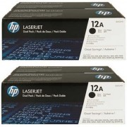 HP 12A Black Toner Cartridge Pack Of 4 Single Color Toner (Black)