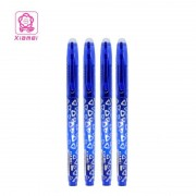 Xiamei 4pcs Gel Ink Erasable Pen 0.5mm Black Blue Red and Ink Blue Erasable Gel Pen Student Writing Stationery School Supplies