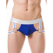 PPU O Ring Multistrap Butt Boost Jock Strap Underwear Blue 1809