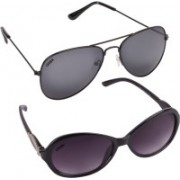 Criba Cat-eye, Aviator Sunglasses(Violet, Grey)
