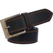 Sunshopping men's black leatherite needle pin buckle belt (PSD-TB-TWN)