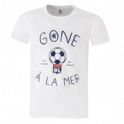 Olympique Lyonnais T-shirt Gone à la mer Homme blanc - XL OL - Foot Lyon