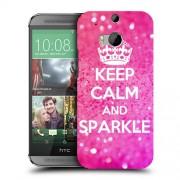 Husa HTC One M8 Silicon Gel Tpu Model Keep Calm Sparkle
