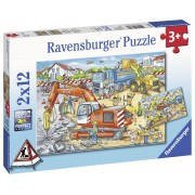 PUZZLE SANTIER IN LUCRU, 2X12 PIESE - RAVENSBURGER (RVSPC07630)
