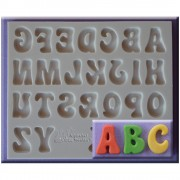 Mulaj Silicon Alfabet Stil Funny, h 2 cm