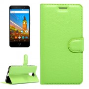 For Wileyfox Swift 2 & Wileyfox Swift 2 Plus (5.0) Litchi Texture Horizontal Flip Leather Case with Magnetic Buckle & Holder & Card Slots & Wallet (Green)