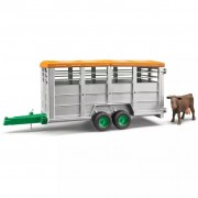 Bruder Livestock Trailer with 1 Cow 1:16 02227