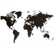 MiMi Innovations Карта на света стенна дърво Luxury черна 180x108 см