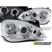 Přední světla, lampy Angel Eyes Opel Corsa C 00-06 chromová H1
