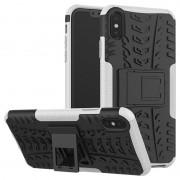 Capa Híbrida Antiderrapante para iPhone XS Max - Branco / Preto