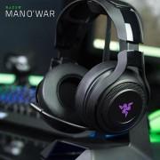 Casti cu microfon Razer ManO'War USB negru