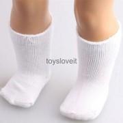 """Alcoa Prime Girls Toys White Socks Stockings Fit for 18"""" American Girl Dolls Xmas Gifts"""