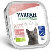 Yarrah Bio 48 x 100 г - бонус опаковка - хапчици: био пиле и био говеждо с био магданоз
