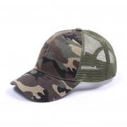 protección solar verano malla sólida transpirable ajustable al aire libre deporte correr Simple gorra de béisbol Casual Sombrero LANG(#Camouflage)