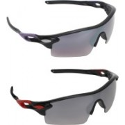 Zyaden Wrap-around, Wrap-around Sunglasses(Multicolor, Multicolor)