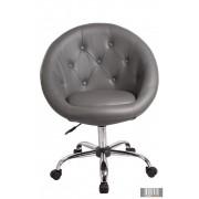 Elegáns guruló bárfotel, kozmetikus szék, fodrász szék, szürke
