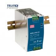 240W Industrijsko napajanje na DIN ini NDR-240-24 MEAN WELL