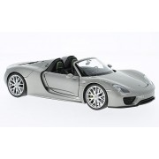 Porsche 918 met.-grey Spyder, , Model Car, Ready-made, Welly 1:24