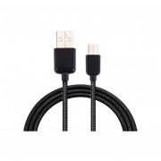 1m C * Nylon Woven Data Sync Cable De Carga Para El Xiaomi Mi5 / Mi4c, Meizu Pro 5, Letv Coolpad Cool1 Adaptador, Oneplus Y Otros Dispositivos Con Puerto Usb (negro)