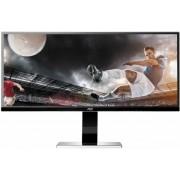 "Monitor LED AOC 34"" U3477PQU, QHD (3440 x 1440), HDMI, DVI, Display Port, 5ms, Boxe, Pivot (Negru)"