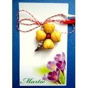 Martisor handmade cu floare galbena