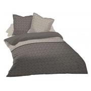 CONFORAMA Parure housse de couette 220x240 cm + 2 taies d'oreiller ELA