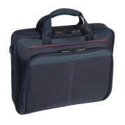 Targus Classic Clamshell Case For 16-Inch Laptops, Black With Red Acce