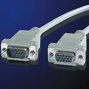 ROLINE 11.01.6560 :: VGA кабел HD15 M/F, 6.0 м, удължителен кабел