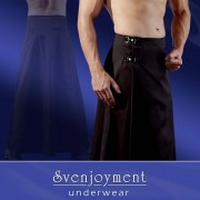 Svenjoyment Floor Length Buckled Skirt Costumes Black 2140012