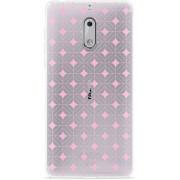 Nokia 6 Hoesje Geometrisch Pink