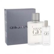 Giorgio Armani Acqua di Gio Pour Homme 100ml за Мъже - EDT 100 ml + EDT 15 ml