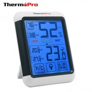 ThermoPro TP-55 Digitale Hygrometer Indoor Thermometer Temperatuur Vochtigheid Gauge met Jumbo Touchscreen en Backlight Monitor