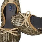 !Választható ajándékkal! Scholl Pocket Balerina cipő arany