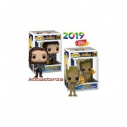 Set 2 Groot y Bucky Barnes Funko pop Avengers Infinity War Marvel