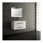 Ensemble de salle de bain SÉVILLE meuble suspendu blanc 80 cm