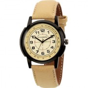 Invaders INV-TCHY-BGE Premium leather strap mens watch