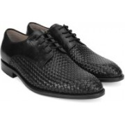 Clarks Twinley Lace Black Weave Lace Up For Men(Black)