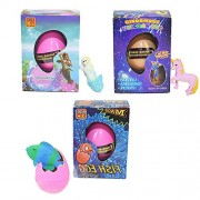 Fancyku Magic Pet Unicorn Dinosaur Eggs Hatching Growing Colorful Dino Toys for Kids Best Gift (Pack of 3)