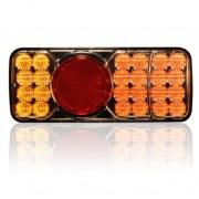 LED hátsó lámpa 3 funkciós bal 12/24V