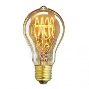 1pcs a19 60w e27 gloeiende hanger vintage edison gloeilamp cafe decor verlichting ac220-240v