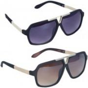 LOPEZ Aviator Sunglasses(Multicolor)